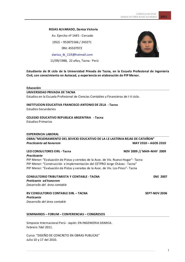Modelo De Curriculum Vitae Universitario - Modelo De Curriculum Vitae