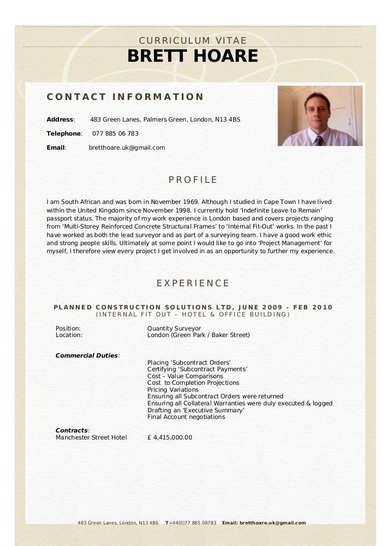 quantity surveyor cv template inspirenow resume format quantity surveyor surveyor resume cv phpapp thumbnail surveyor resume