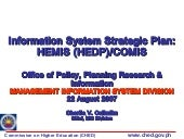 CHED Information System Strategic P...