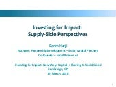 Investing for Impact - Supply-Side...