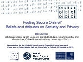 Do you feel secure online? Beliefs ...