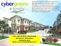 cybergreen subdvision, townhouse and bunggalow houses, ready for occupancy