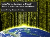 Cyber war or business as usual
