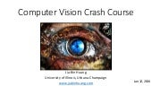 Computer Vision Crash Course