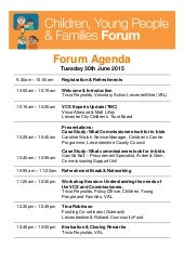 CYPF Forum Finalised Agenda