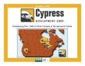 Cypress Development Corp. - November 2014
