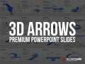 PowerPoint  3 D Arrows Template