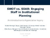 SWOT vs. SOAR: Engaging Staff in In...