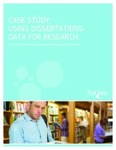 Case Study: Using Dissertations Data for Research