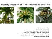 Literary Tradition of Tamil - Pathi...