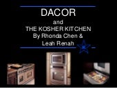 Dacor And The Kosher Kitchen   Kosh...
