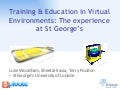 Training and Education in a Virtual World