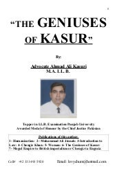 The Geniuses of Kasur