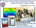 Impact on Air Quality and Climate Change: Where the Dairy Industry Stands- Frank Mitloehner