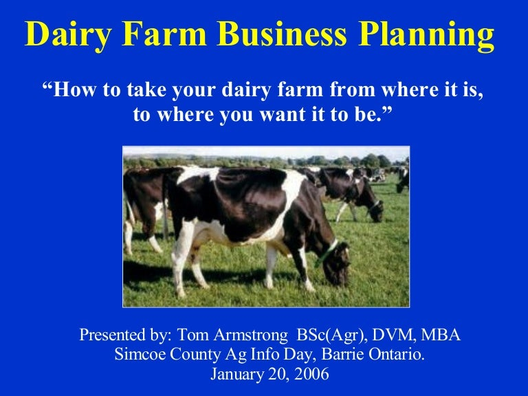 Agricultural business plan