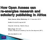 How open access can re-energise Afr...