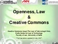 Dalit Ken-Dror - Openness, Law and Creative Commons