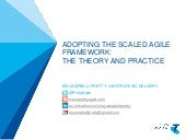 Adopting the Scaled Agile Framework: The Theory and the Practice - Dallas ALN - October 2013