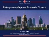 Entrepreneurs, growth, cities