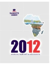 Dangote Cement annual report 2012