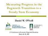 Measuring progress towards a steady...