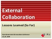 External Collaboration: Lessons Lea...
