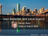 User Behavior and Local Search