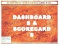 Dashboards Scorecards