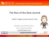 The Rise of the Data Journal