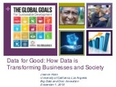 Data for Good: How Data is Transforming Business and Society