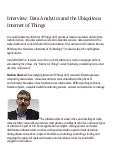 Data Analytics and the Ubiquitous Internet of Things