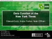 Data Curation at the New York Times