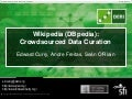 Wikipedia (DBpedia): Crowdsourced Data Curation