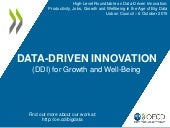 Data driven innovation for growth and well being