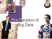 The paradox of big data - dataiku / oxalide APEROTECH