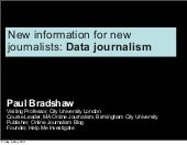 Data Journalism (very abridged)