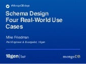 MongoDB Schema Design: Four Real-Wo...