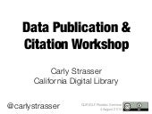 Data publication and Citation for CLIR postdoc seminar