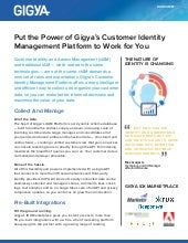 Gigya IT Buyer data sheet