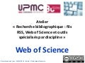 Doctorat sciences - Outil de recherche : le Web of Science