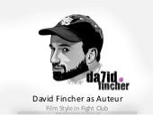 David fincher as auteur