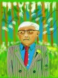 My sketch of David Hockney   An ipad sketch based on several photos and also his exhibit