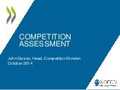 Presentation by OECD John Davies - Romanian Competition Assessment project launch