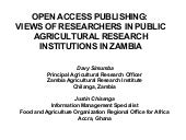 Open Access publishing: views of re...