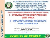 The Implementation of ECOWAP/CAADP:...