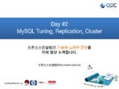 Day #2 MySQL Tuning, Replication, Cluster