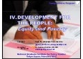 DEVELOPMENT FOR THE PEOPLE:  Equity and Poverty