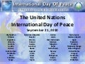 International Day of Peace 2010