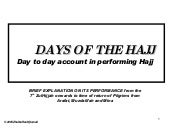 Days Of The Hajj(Scribd)