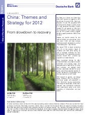 DB   China equity strategy 2012